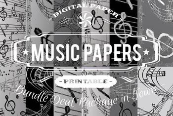 Digital Papers - Music Patterns Bundle Deal