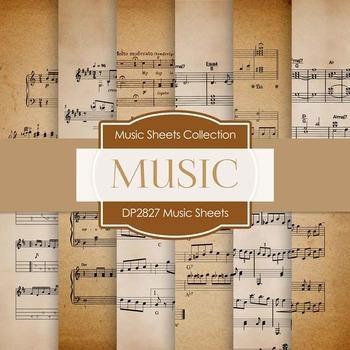 Digital Papers - Music Sheets (DP2827)