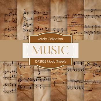 Digital Papers - Music Sheets (DP2828)