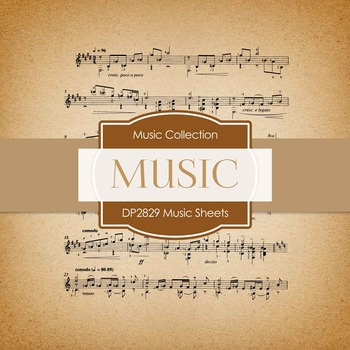Digital Papers - Music Sheets (DP2829)