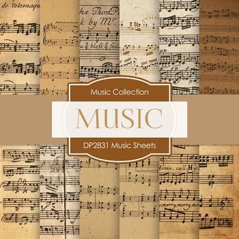 Digital Papers - Music Sheets (DP2831)