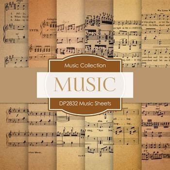 Digital Papers - Music Sheets (DP2832)