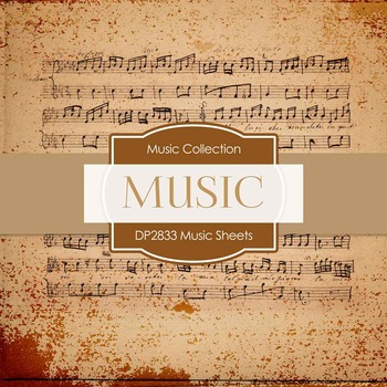Digital Papers - Music Sheets (DP2833)
