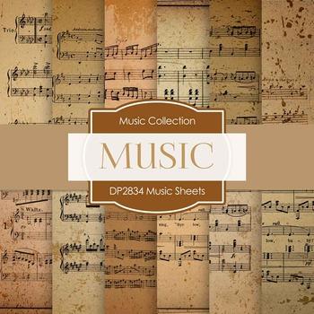 Digital Papers - Music Sheets (DP2834)