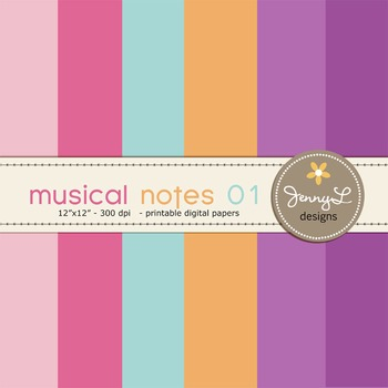 Digital Papers : Musical Notes