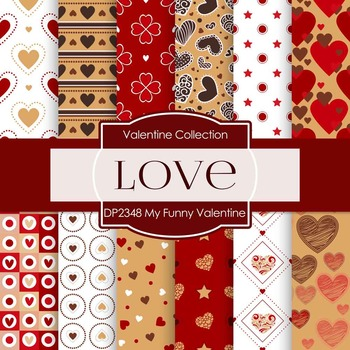 Digital Papers - My Funny Valentine (DP2348)