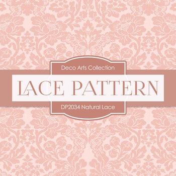 Digital Papers - Natural Lace (DP2034)
