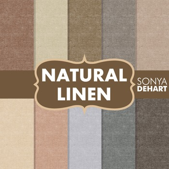 Digital Papers -  Natural Linen Jute Burlap Fabric Textures