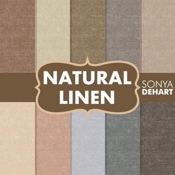 Digital Papers -  Natural Linen Jute Burlap Fabric Textures