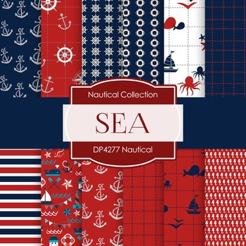 Digital Papers - Nautical (DP4277)