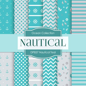 Digital Papers - Nautical Teal (DP857)