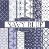 Digital Papers - Navy Blue Designs (DP436)