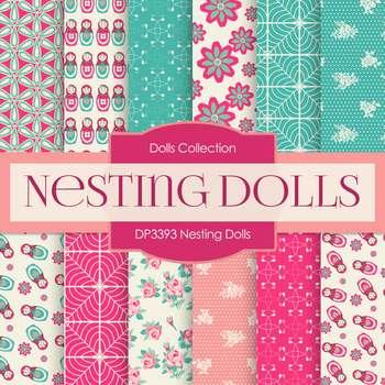 Digital Papers - Nesting Dolls (DP3393)