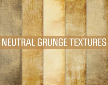 Digital Papers Neutral Grunge Textures