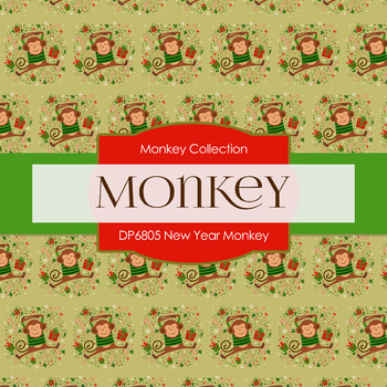 Digital Papers - New Year Monkey (DP6805)