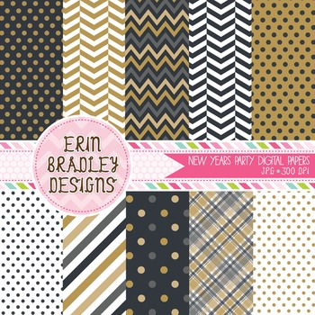 Digital Papers New Years Holiday Background Patterns