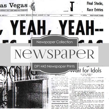 Digital Papers - Newspaper Prints (DP1443)