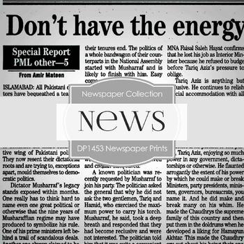 Digital Papers -  Newspaper Prints (DP1453)