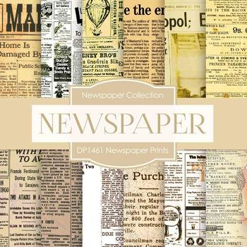 Digital Papers -  Newspaper Prints (DP1461)