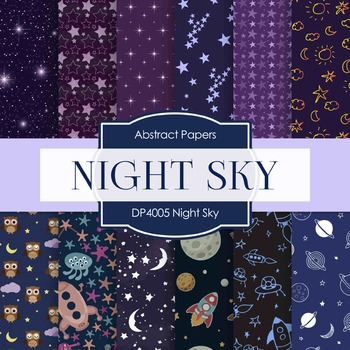 Digital Papers - Night Sky (DP4005)