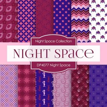 Digital Papers - Night Space (DP4077)