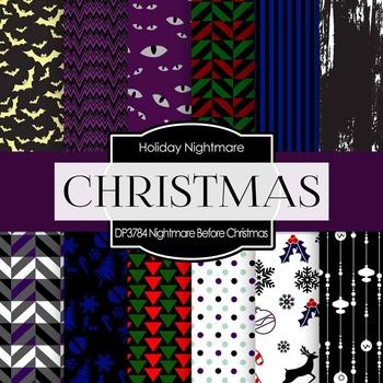 Digital Papers - Nightmare Before Christmas (DP3784)