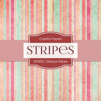 Digital Papers - Oblique Stripes (DP4001)