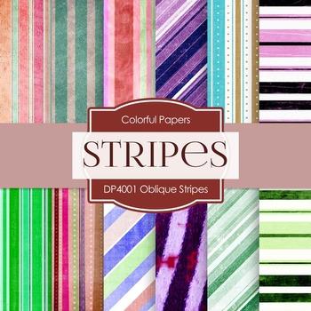 Digital Papers - Oblique Stripes (DP4001)