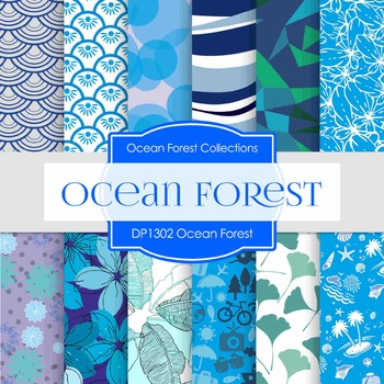 Digital Papers - Ocean Forest (DP1302)