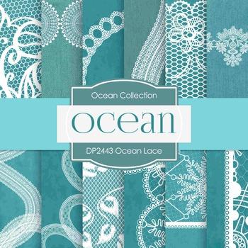 Digital Papers - Ocean Lace (DP2443)