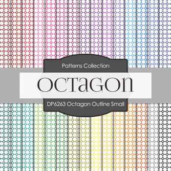 Digital Papers - Octagon Outline Small (DP6263)