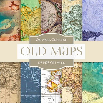 Digital Papers - Old Maps (DP1428)