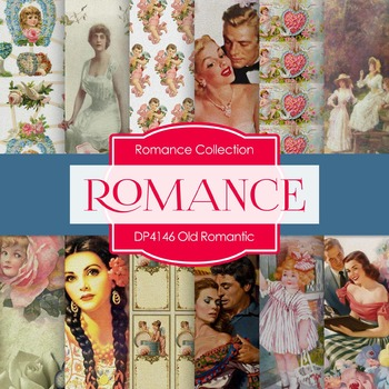 Digital Papers - Old Romantic (DP4146)