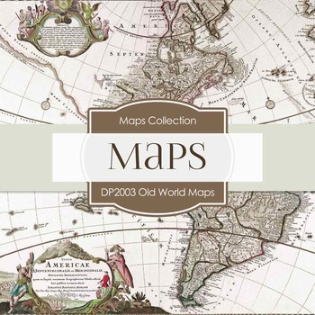 Digital Papers -  Old World Map (DP2003)