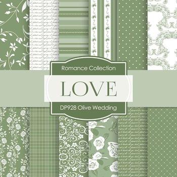 Digital Papers - Olive Wedding (DP928)