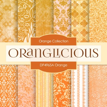 Digital Papers - Orange (DP4965A)