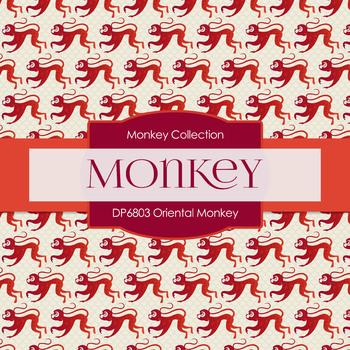 Digital Papers - Oriental Monkey (DP6803)