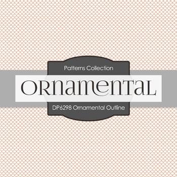 Digital Papers - Ornamental Outline (DP6298)
