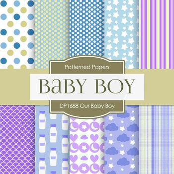 Digital Papers - Our Baby Boy (DP1688)