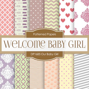 Digital Papers - Our Baby Girl (DP1685)