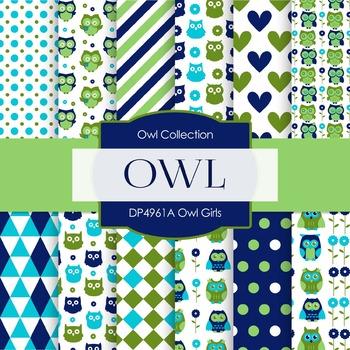 Digital Papers - Owl Girls (DP4961A)