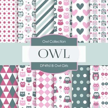 Digital Papers - Owl Girls (DP4961B)