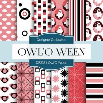 Digital Papers - Owl'O Ween (DP2334)