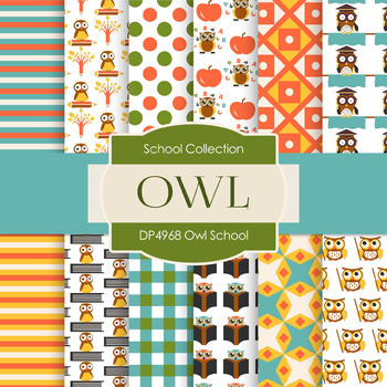 Digital Papers - Owl School (DP4968)