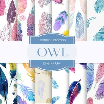 Digital Papers - Owls (DP6147)