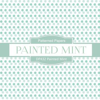 Digital Papers - Painted Mint (DP432)