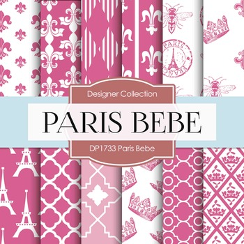 Digital Papers - Paris Bebe (DP1733)