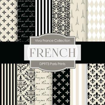 Digital Papers - Paris Prints (DP973)