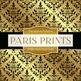 Digital Papers - Paris Prints Gold (DP881)