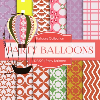 Digital Papers - Party Balloons (DP2201)